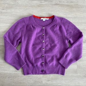 Boden 100% Cashmere Cropped Cardigan Sweater 2 XS